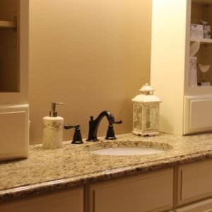 Bath Granite Countertop, Color: Giallo Ornamental