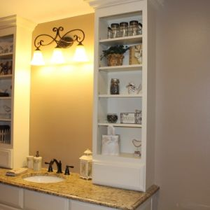 Custom White Cabinetry in Bathroom