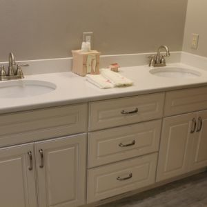 Custom Built Bathroom Cabinets Under Vanity