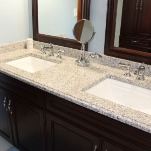 Granite Bathroom Countertop, Color: Luna Pearl