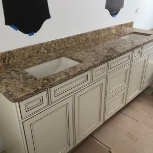 Cambria Buckingham Granite Double Vanity