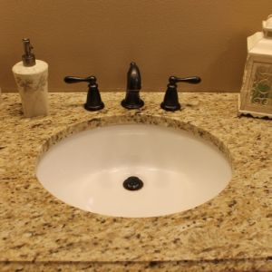 Small Bathroom Granite Countertop, Color: Giallo Ornamental