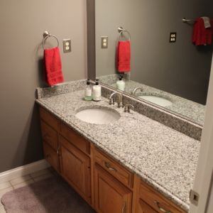 Granite Bathroom Counter, Color: Azul Platino